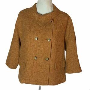 NWTs Talbots Jackie Fit Wool Blend Tan Coat 12P